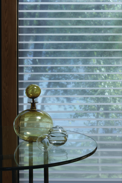 Innovative.  Unexpected.  Designed to a higher standard of excellence. Silhouette® window shadings provide the light control of a blind, the easy operation of a shade, and the soft, light-filtering translucence of a sheer curtain.