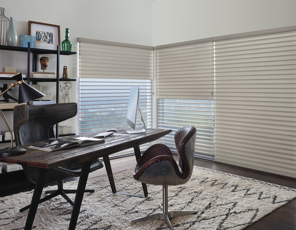 All Silhouette shadings feature soft fabric vanes suspended between two sheers that you can tilt to achieve your desired privacy, as well as UV protection for your floors and furnishings.