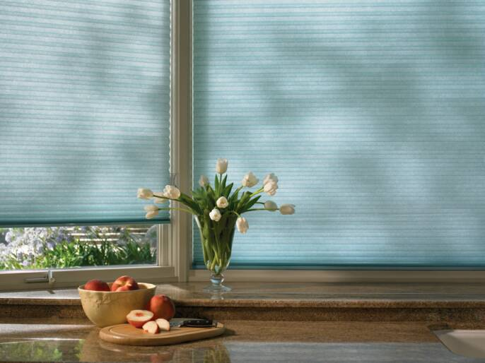 Hunter Douglas insulating cellular/honeycomb shade with LiteRise cordless lift