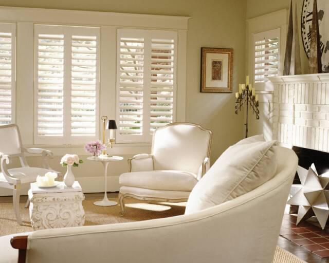 Palm Beach™ Polysatin Shutters Are Fabricated From A Polysatin Compound  That Will Not Warp, Crack, Chip Or Shrink. They Come In Three Louver Sizes  (2 1/2, ...