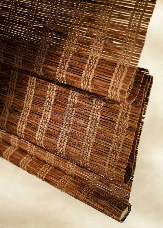 Woven wood natural window shades