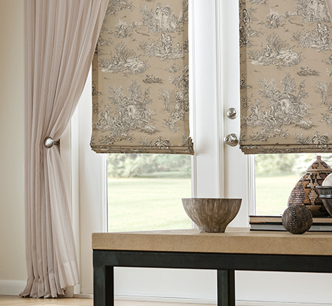 fabric window treatments nh - bayside blind & shade - upholstered